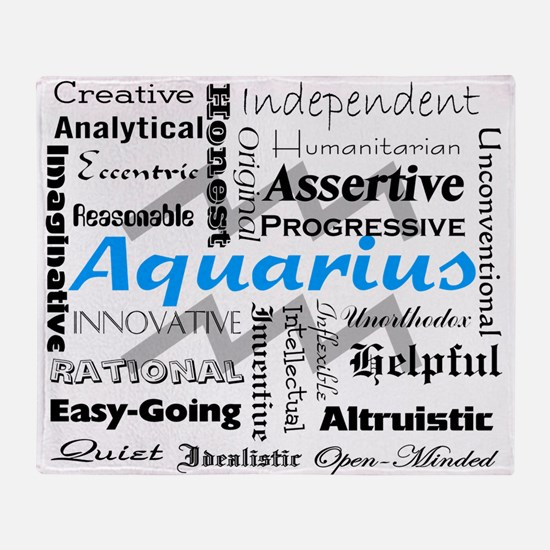 Aquarius Throw Blanket
