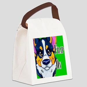 frap on black tri Canvas Lunch Bag