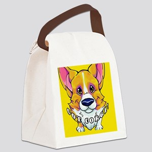 got corgi red white Canvas Lunch Bag