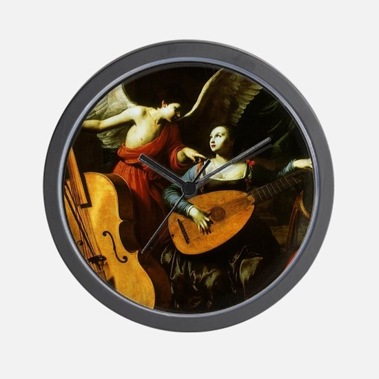 Saint Cecilia and the Angel by Saraceni Wall Clock