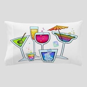 COCKTAIL PARTY GLASSES Pillow Case