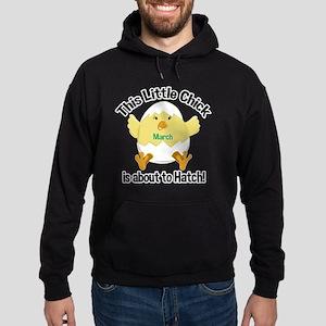 Chick about to hatch Pregnancy Shirt Hoodie (dark)