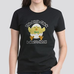 Chick about to hatch Pregnanc Women's Dark T-Shirt