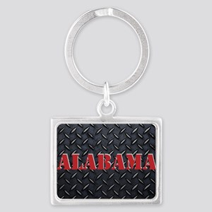 Alabama Diamond Plate Keychains