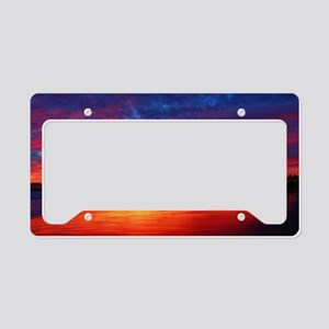 Amanecer con viento Sur License Plate Holder