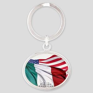 Italian American Oval Keychain
