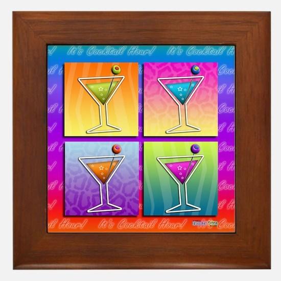 MARTINIS Pop Art Framed Tile