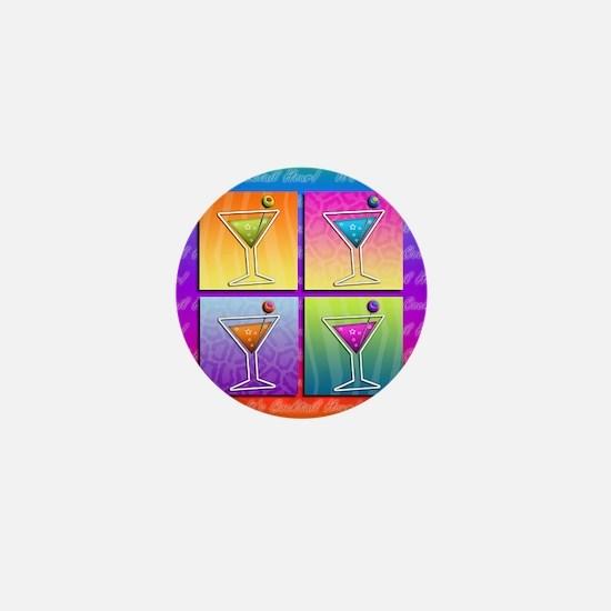 MARTINIS Pop Art Mini Button