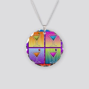 MARTINIS Pop Art Necklace Circle Charm