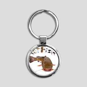 Catfish Round Keychain