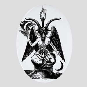 Baphomet Oval Ornament