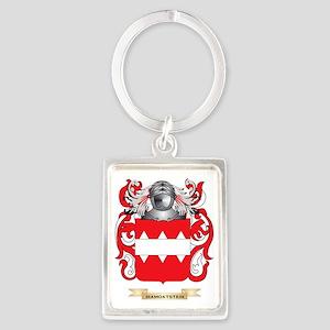 Di Bella Coat of Arms Portrait Keychain
