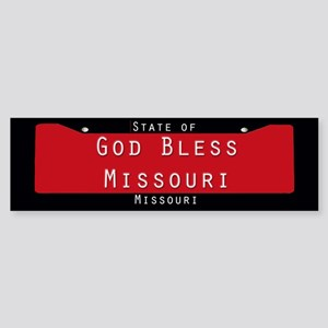 Missouri God Bless Bumper Sticker
