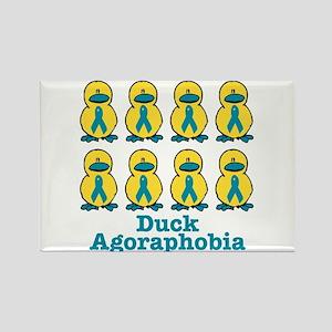 Agoraphobia Awareness Ribbon Ducks Rectangle Magne