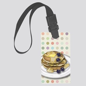 Pancakes With Syrup And Blueberr Large Luggage Tag