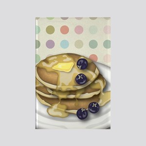 Pancakes With Syrup And Blueberri Rectangle Magnet