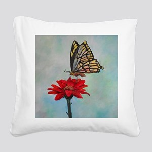 Swallowtail Butterfly  Macro  Square Canvas Pillow