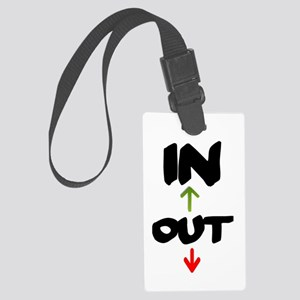 IN AND OUT Large Luggage Tag