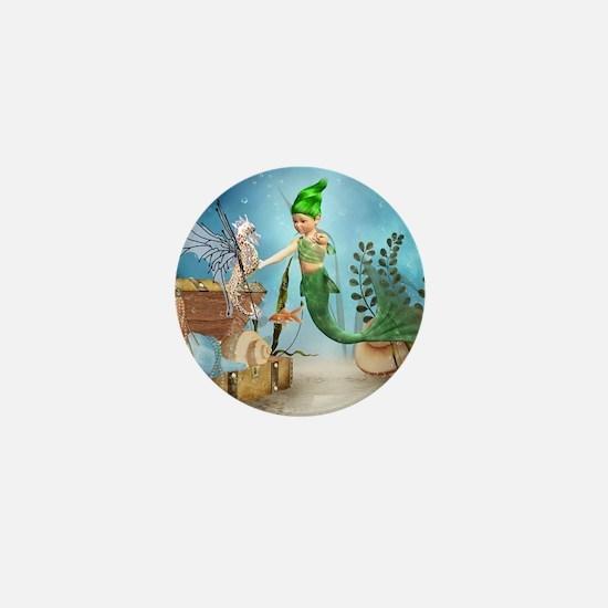 Little Mermaid 4 Mini Button
