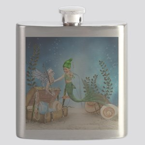 Little Mermaid 4 Flask