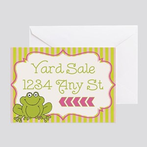 Frog Yard Sale Sign Greeting Card