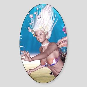 Mermaid!  Sticker (Oval)