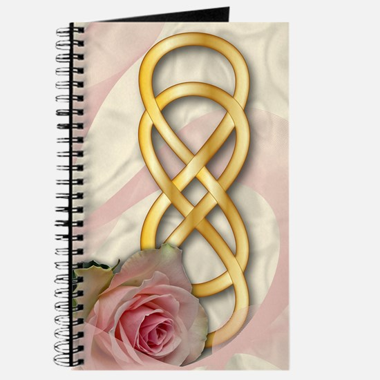 Double Infinity Gold With Pink Rose - 1 Journal