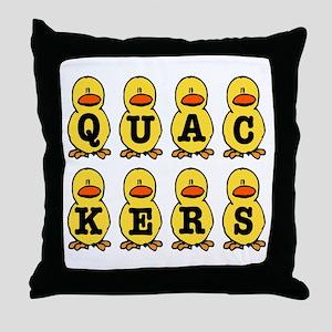 Quackers Ducks Throw Pillow