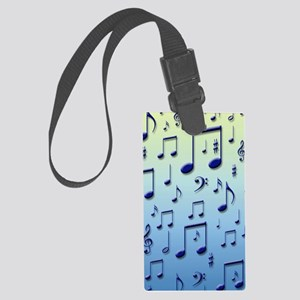 Music notes Large Luggage Tag
