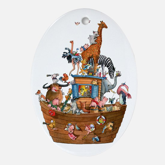 Noahs Ark Oval Ornament