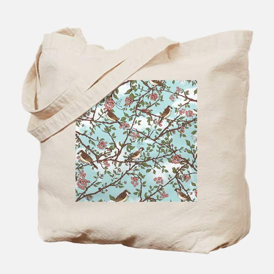 Sparrow tree Tote Bag