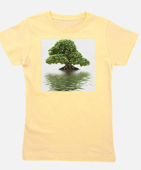 Ficus bonsai with water reflection Girl's Tee