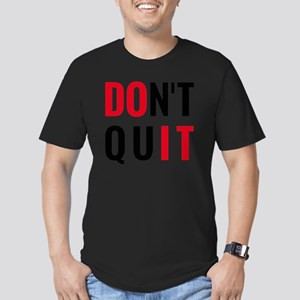 do it, don't quit, mot Men's Fitted T-Shirt (dark)
