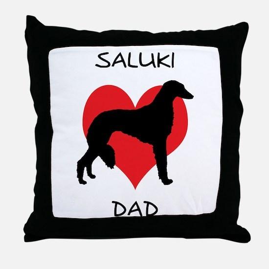 Saluki Dad Throw Pillow