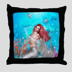 Magic Mermaid Throw Pillow