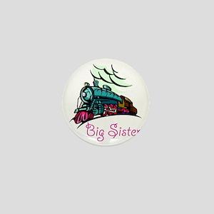 Big Sister Rolling Train Mini Button