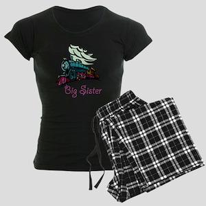 Big Sister Rolling Train Women's Dark Pajamas