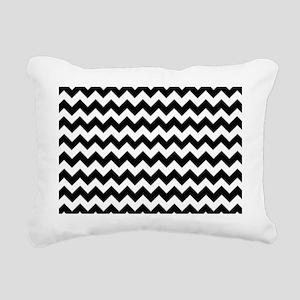 Chevron Zigzag Pattern B Rectangular Canvas Pillow