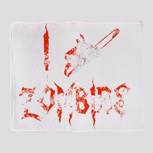 i chainsaw zombies light Throw Blanket