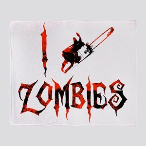 i chainsaw zombies dark Throw Blanket