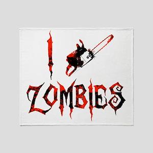 i chainsaw zombies dark Throw Blanket