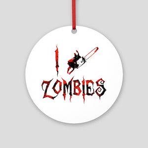 i chainsaw zombies dark Round Ornament