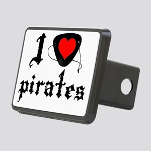 i heart patch pirates dark Rectangular Hitch Cover