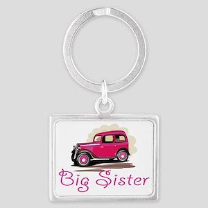 Big Sister Retro Car Landscape Keychain