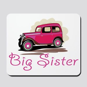 Big Sister Retro Car Mousepad