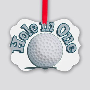 Hole in One (txt) Picture Ornament