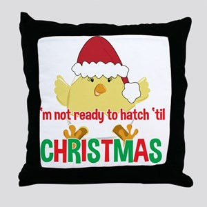 Hatching Chick Due in December Christ Throw Pillow