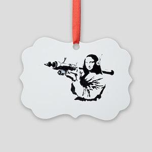 Mona Lisa Bazooka Picture Ornament