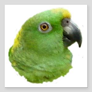 "Rio the Amazon Parrot Square Car Magnet 3"" x 3"""