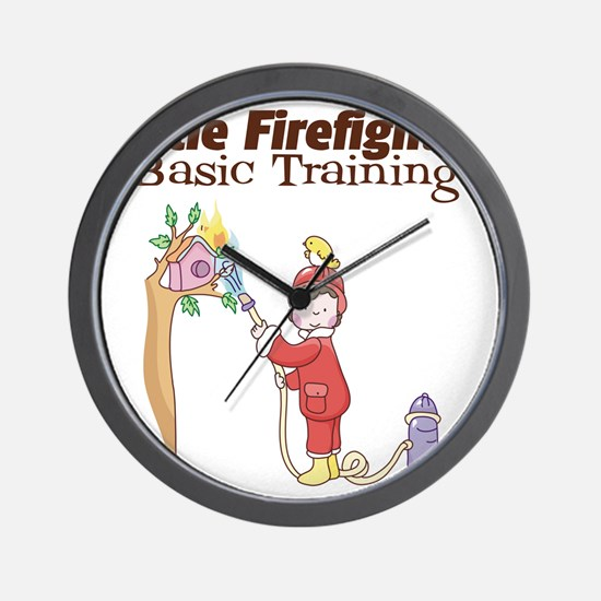 Little Firefighter Basic Training Wall Clock